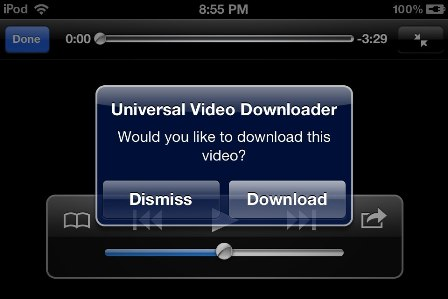 Universal Video Downloader - твик из Cydia