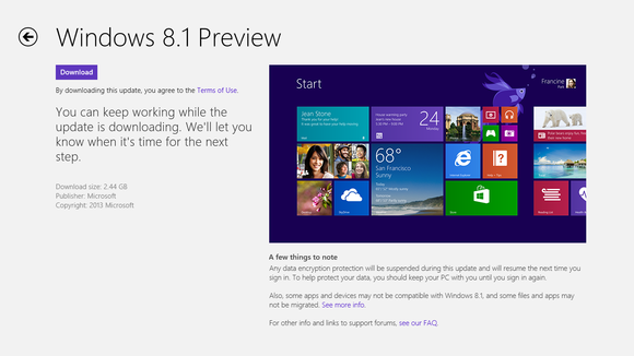 Скачать Windows 8.1 Preview